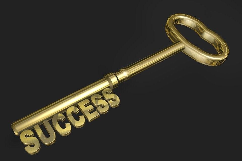 成功, キー, ゴールド, ゴールド色, 3次元, 概念, セキュリティ, 機器, シンボル, 光沢のある