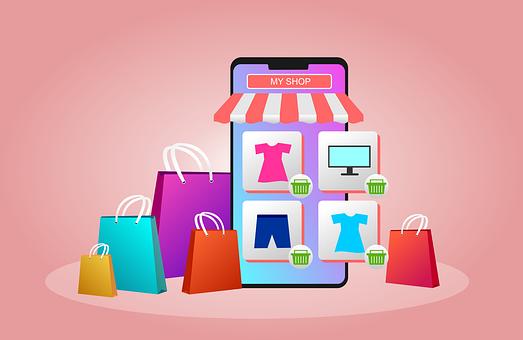 オンライン ショップ, 買い物, 仕事, E コマース, Eコマース